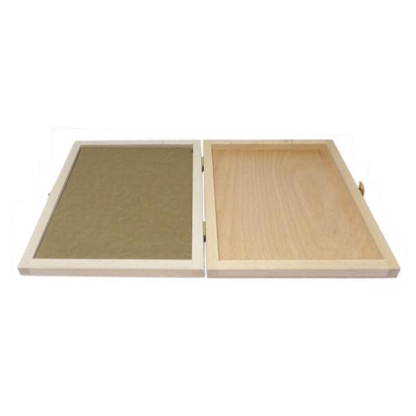 Największa poduszka drewniana do stempli, na tusz