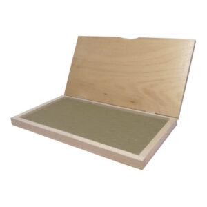Poduszka drewniana do stempli, na tusz