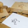 Ex libris piłkarski na stemplu z poduszką drewnianą