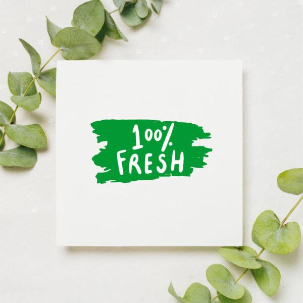stempel wspierający sprzedaż wzór 100% fresh