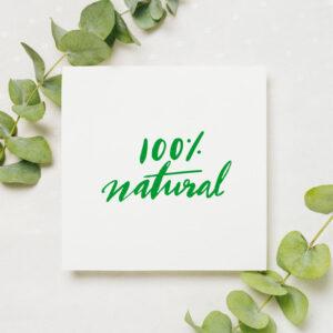 stempel wspierający sprzedaż wzór 100% natural