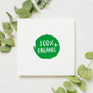 stempel wspierający sprzedaż wzór 100% organic