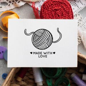 stempel wspierający sprzedaż wzór handmade 11