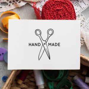 stempel wspierający sprzedaż wzór handmade 14