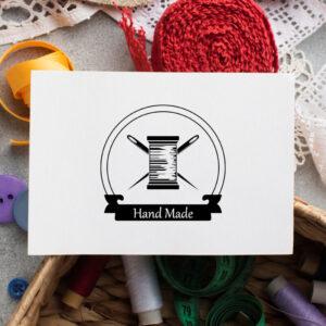 stempel wspierający sprzedaż wzór handmade 19