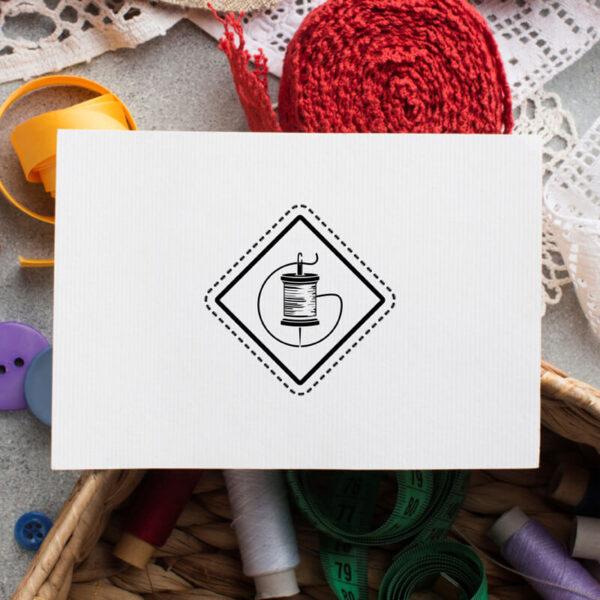 stempel wspierający sprzedaż wzór handmade 2
