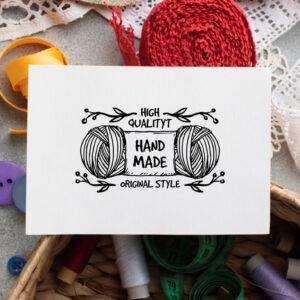 stempel wspierający sprzedaż wzór handmade 24
