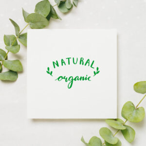 stempel wspierający sprzedaż wzór natural organic