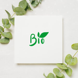 stempel wspierający sprzedaż wzór bio