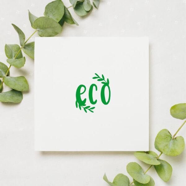 stempel wspierający sprzedaż wzór eco