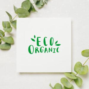 stempel wspierający sprzedaż wzór eco organic