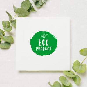 stempel wspierający sprzedaż wzór eco product