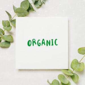 stempel wspierający sprzedaż wzór organic