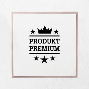 stempel drewniany sprzedażowy wzór produkt premium