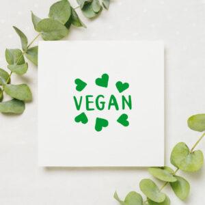 stempel wspierający sprzedaż wzór vegan