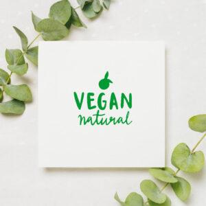 stempel wspierający sprzedaż wzór vegan natural