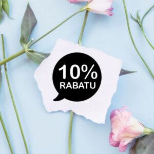 stempel drewniany sprzedażowy -10% wzór 13