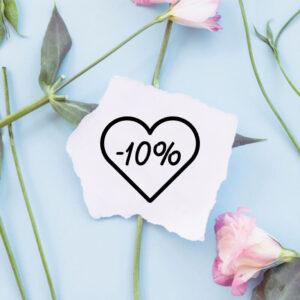 stempel drewniany sprzedażowy -10% wzór 14