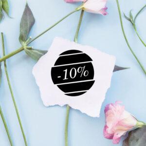 stempel drewniany sprzedażowy -10% wzór 9