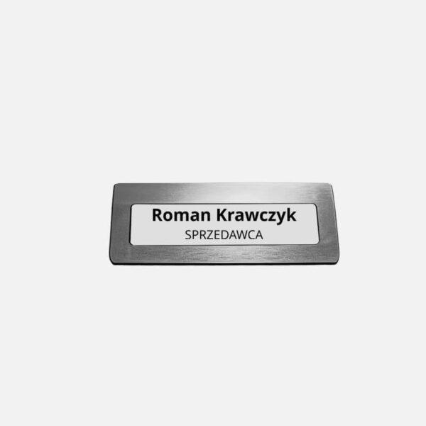 Uniwersalny identyfikator personalizowany z okienkiem