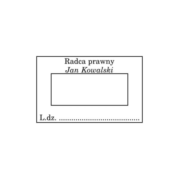 Pieczątka z datą radcy prawnego wersja 2 wzór nr 2