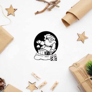 stempel świąteczny z Mikołajem
